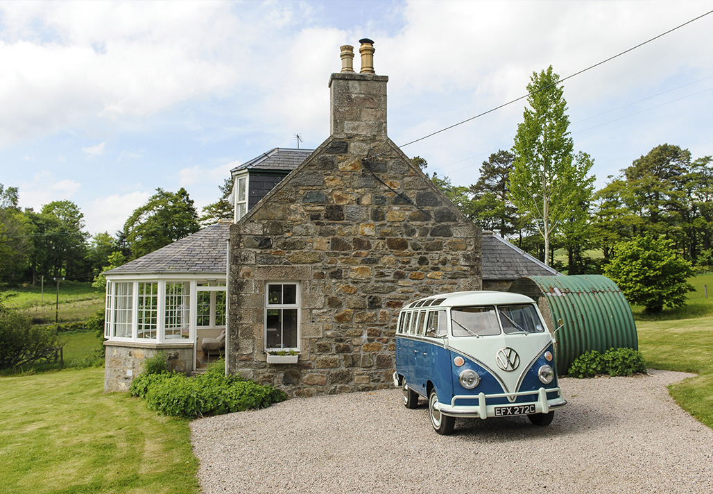 Scottish holiday cottages: Stratinnan, Aberdeenshire