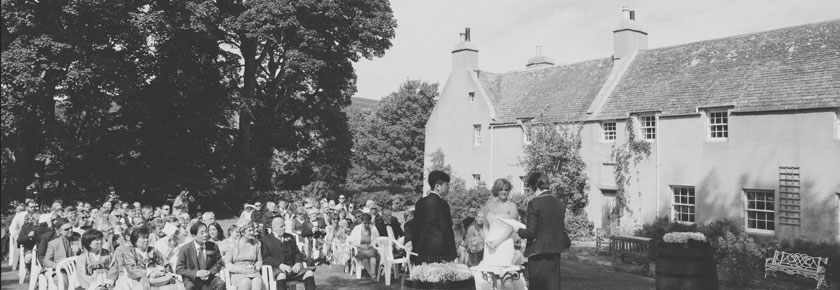Wedding ceremonies can take place in the Aswanley garden