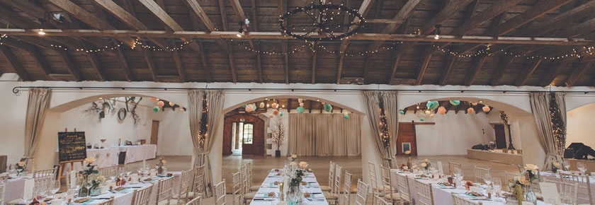 The dining room at Aswanley Wedding Venue