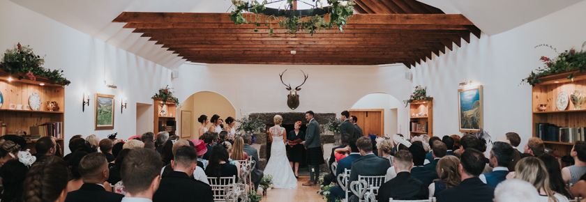 Wedding Ceremony in the fireplace room
