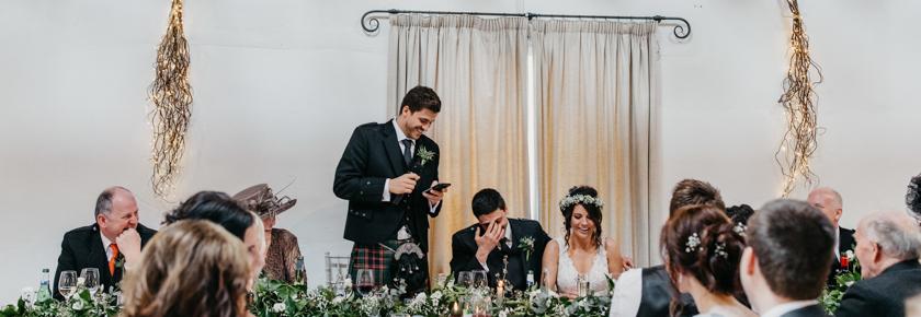 Wedding speeches at Aswanley
