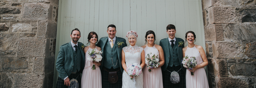Bridal party at Aswanley