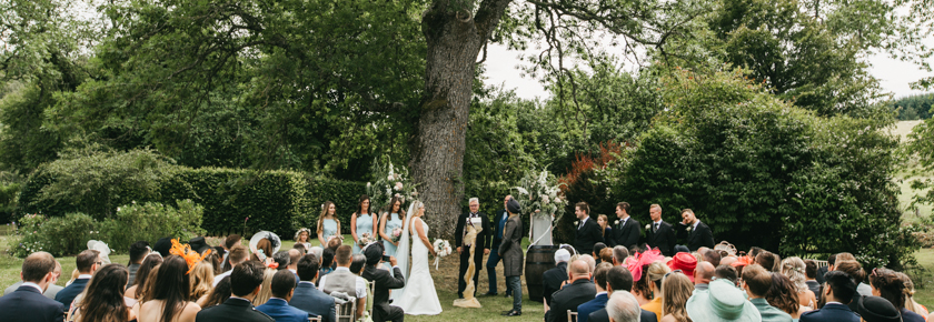 Garden Wedding Ceremony by Emma Lawson Photography